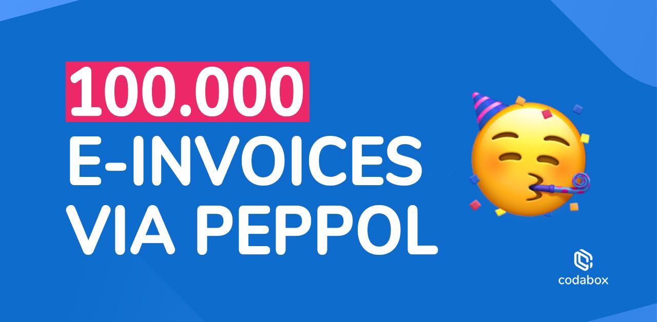 Mijlpaal: 6.000 Belgische bedrijven ontvingen de afgelopen maanden meer dan 100.000 digitale facturen !